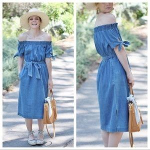 J crew denim dress